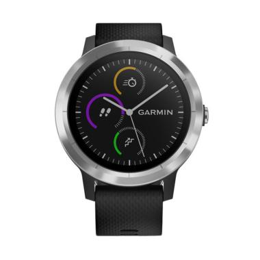 Garmin Vivo Active 3 Smartwatch - Black with Stainless
