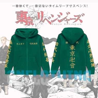 JAKET HOODIE ANAK TOKYO MANJI TOUMAN TOKYO REVENGERS XL MARUN