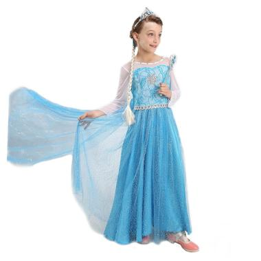 Frozen Baju Kostum Princess Frozen Elsa Dress Anak