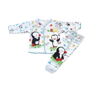 ARTHUR & AMIE A&A Pinguin Babyandki ... iyama Panjang Bayi - Biru