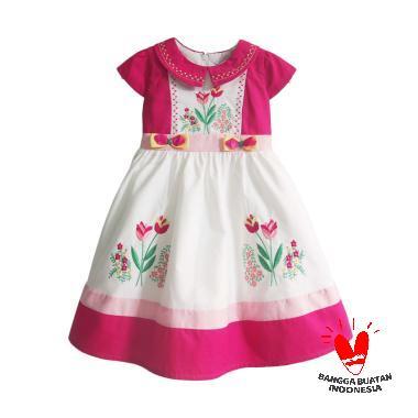 REVERA RE37 Dress Anak - Fuschia