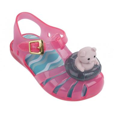 Mini Melissa Aranha IX Pig Sepatu Anak Perempuan - Pink