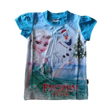 J2 Christmas Frozen Kaos Anak - Biru