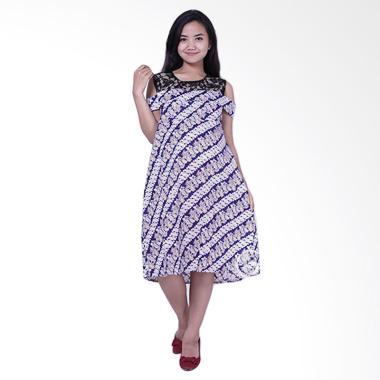 Mama Hamil BTK 154 Batik Brokat Nar ... amil dan Menyusui -  Biru