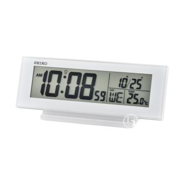 Seiko QHL072W Digital Desktop Bedside Alarm Clock - White
