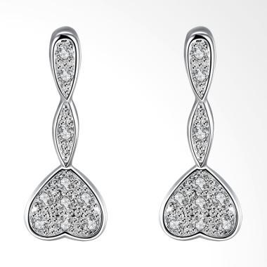 SOXY LKNSPCE776 New Exquisite Fashion Heart Shaped Diamond Earrings
