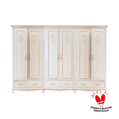 The Olive House Queen Anne Wardrobe [6 Pintu]