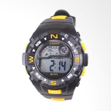 Lasika Sport Digital Jam Tangan Unisex - Black Yellow [W-F 77]