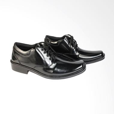 JAFERI Elastis Tali Sintetis Sepatu Pantofel Pria - Black [PDH 02]