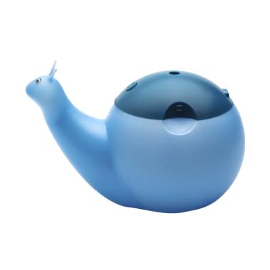 Tokuniku Lovely Snail Shape Ultrasonic Aromatherapy Essential Oil Diffuser Cool Mist Humidifier with Color LED Lights - Blue [550 mL]