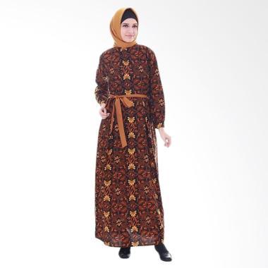Aamir Kinsler GB01 Batik Flora Hitam Gamis - Multicolor