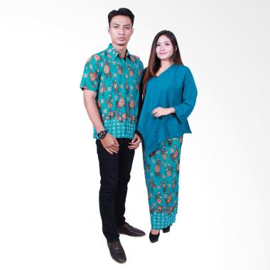 Batik Putri Ayu Solo SRD506 Sarimbit Dress Batik Couple - Hijau