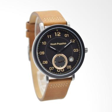 Hush Puppies Dial Detik Analog Jam Tangan Pria - Brown [HP.3862M.2502]