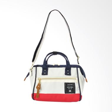 Anello 2 Way Shoulder Bag Polyester ... AT-H0851 - White Red Blue
