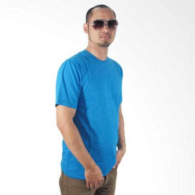 Nazoela Clothing T-Shirt Polos Pria - Blue Misty