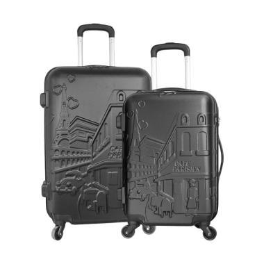 Polo Twin 6616-35 Troley Bag Set - Black [20 dan 24 Inch]