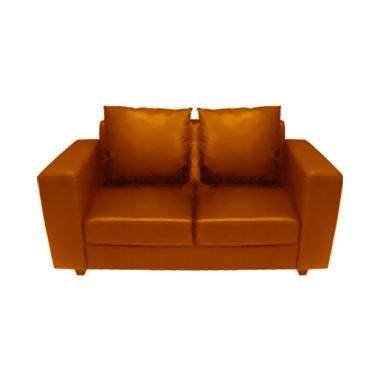 FCENTER Verbena 2 Seater Sofa - Brown [Pulau Jawa*)