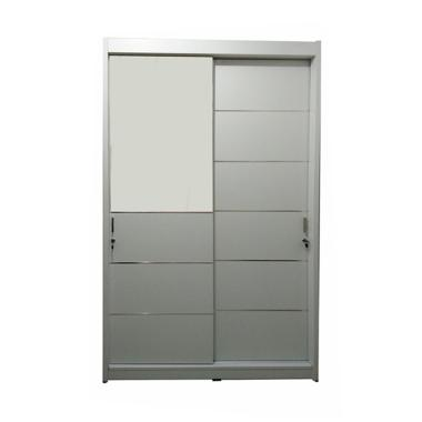 Pro Design Sliding Lemari Pakaian - Putih [2 Pintu]