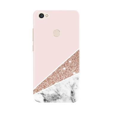 pretty nice cda9b 794d5 Flazzstore Pink Marble Glitter E1403 Custom Case for Xiaomi Redmi Note 5A  Prime