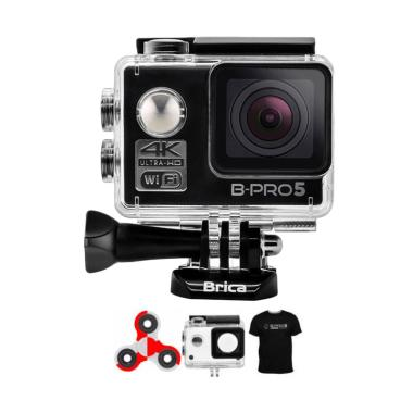 Brica B-PRO 5 Alpha Edition 1 AE1 4K Action Cam - Hitam + Spinindo