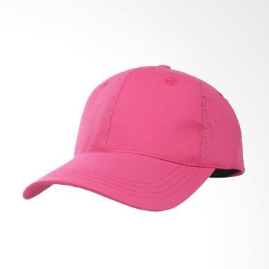 Elfs Shop Simple Baseball Twill Polos Topi - Pink Tua