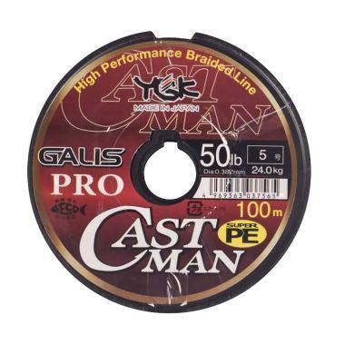 Senar PE YGK Galis Pro Castman 100M Size 5 Ukuran 50Lbs