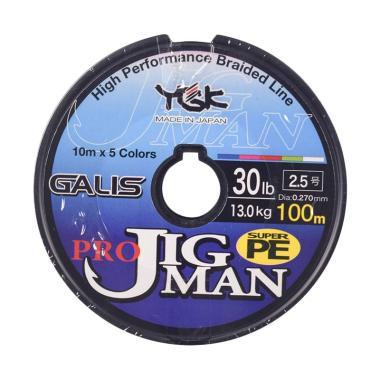 Senar PE YGK Galis Pro Jigman 100M Size 2.5 Ukuran 30Lbs