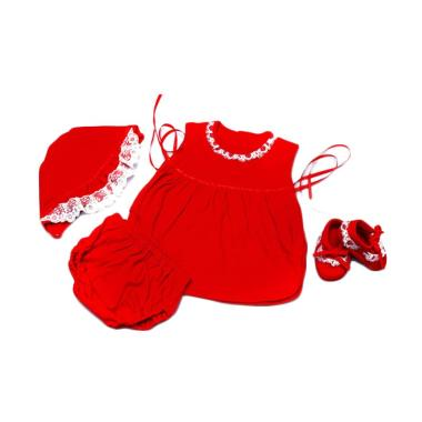 Baby Pink Newborn Babydoll Set (Red)