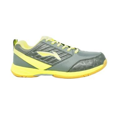 Li-Ning Elva Sepatu Badminton - Grey Lime [AYTM045-3]