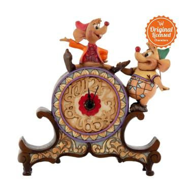 Disney Traditions Jaq and Gus Clock Figurine