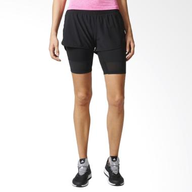 adidas 2in1 Long Women Short Celana Olahraga Wanita - Black [BK7690]