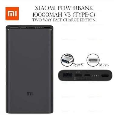 harga Jual POWERBANK XIAOMI 10000MAH Mi PRO 3 USB TYPE C 18W 10000 MAH 2A MI PRO3 - Putih Murah Blibli.com
