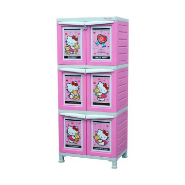 Napolly BCBC 163 HKBF PINK Plastik Lemari Pakaian Anak - Baby Pink