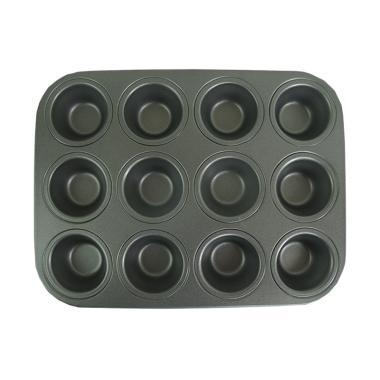 Titan Baking Kecil Muffin Teflon Loyang Kue [12 Cup]