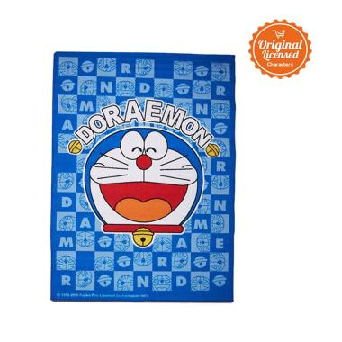 Doraemon Nylon Doraemon Head Alas Lantai - Blue