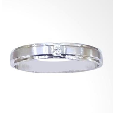 Pentacles FC02433 Wedding Ring White Gold With Diamond