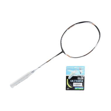 YONEX Duora Z-Strike Raket Badminton - Black White BFRDUORAZSTR-BKWTZZ-3U5Z [