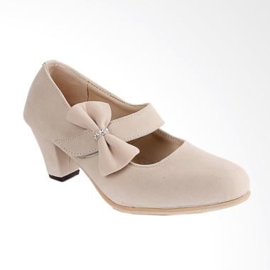Blackkelly BLK-LKZ 147 High Heels Sepatu Wanita - Krem