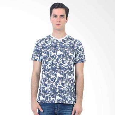 Manzone Slim Fit T-Shirt Pria - Luge Navy