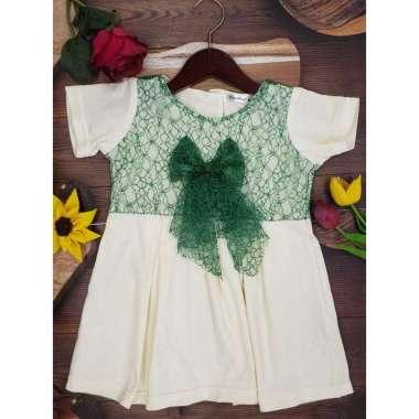harga Hipofant Dress Bayi Dan Anak Perempuan Anisa Kaos Brukat  2 Green Blibli.com