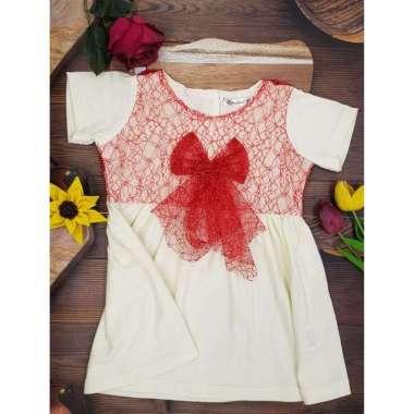 harga Hipofant Dress Bayi Dan Anak Perempuan Anisa Kaos Brukat  2 Red Blibli.com