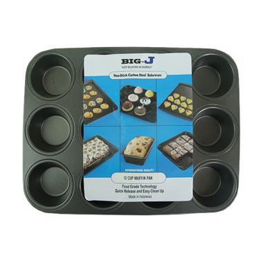 BIG J Muffin Teflon Loyang Kue [Lubang 12 Besar]