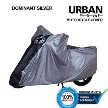 Promo Cover Motor Anti Air Debu Matahari Sarung Motor Matic Bebek Urban ORI - Silver Berkualitas