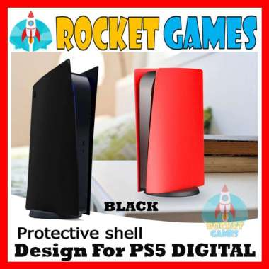 harga Rocket Games - Face Plate Casing Skin Shell Case Replacement PS5 DIGITAL VERSION RED Blibli.com