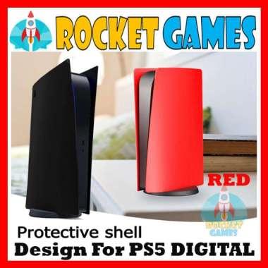 harga Rocket Games - Face Plate Casing Skin Shell Case Replacement PS5 DIGITAL VERSION BLACK Blibli.com