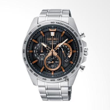 Seiko Chronograph Jam Tangan Pria - Silver [703BSS]