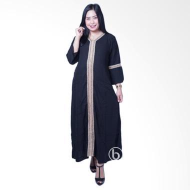 Mama Hamil GMS 248 Long Arabian Syari Baju Gamis Ibu Hamil - Hitam