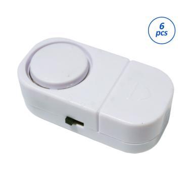Yangunik Paket Alarm Pintu Anti Mal ... try Alarm - Putih [6 pcs]