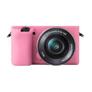 Godric Silicone Sony Alpha A6000 A6 ... ra Mirrorless - Pink Muda