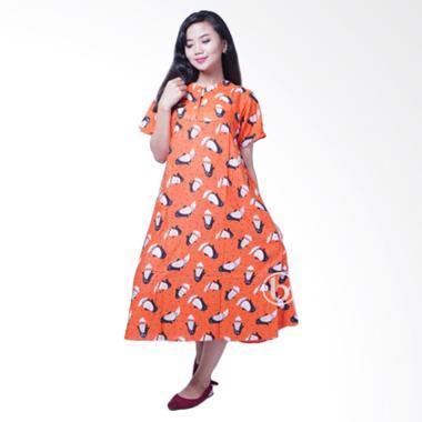 Mama Honey Payung DS 432 Batik Cap Pinguin Daster Baju Hamil - Orange